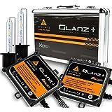 Kits de Conversion HID avec CANBUS Anti-Erreur PRO, AFTERPARTZ® Glanz+ AC 55W 6000K HID XENON Ampoule de Rechange, Démarrage Rapide, Allumer à 100% dans 3 Secondes, Premium Ballasts et Accessoires Inclus (H8 H9 H11)