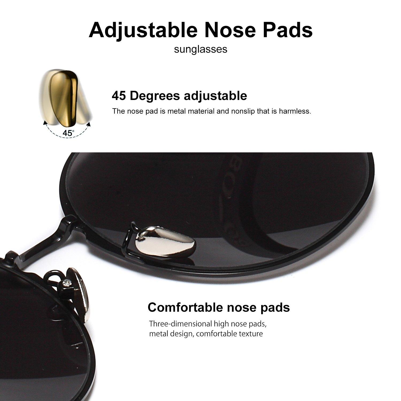 65238ea839bdbf BOYOU Lunettes de soleil Premium Full Mirror Lunettes de style Aviator   Amazon.fr  Vêtements et accessoires