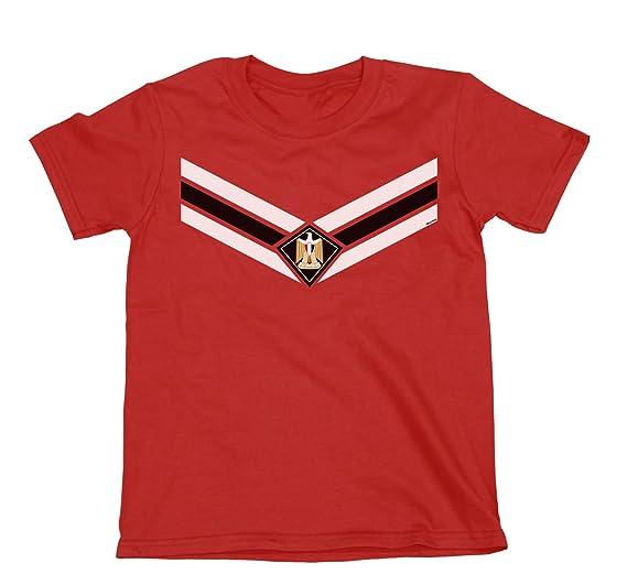 35f9b79fac1 Amazon.com: Kids Egypt Team Emblem Boys Girls Football T-Shirt World Cup  2018 Retro Sports: Clothing