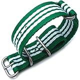 Bracelet NATO 24A24BZZ00N4S04(FR)–Sangle de nylon, Vert (24)