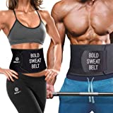 Boldfit Sweat Slim Belt Neoprene Body Shaper and Tummy Trimmer for Men & Women Supports Weight Loss & Lower Back Support