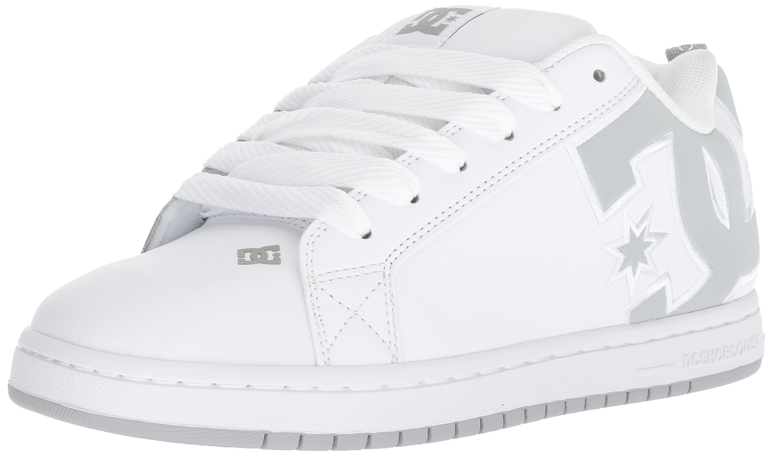 DC Men's Court Graffik SE Skate Shoe White Grey, 15 Medium US