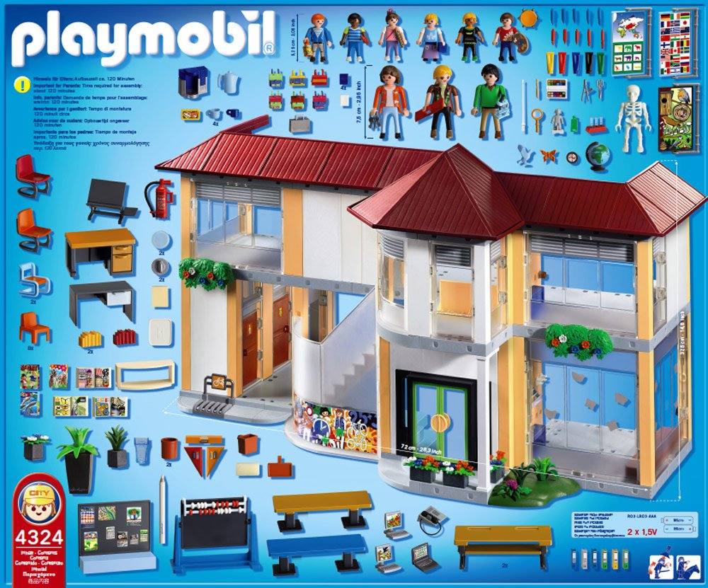 4324 ecole de playmobil. Black Bedroom Furniture Sets. Home Design Ideas
