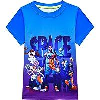 Camisetas de baloncesto para niño Space 2 Movie Toon Squad Tops Tees A New Legacy Kids manga corta ropa deportiva