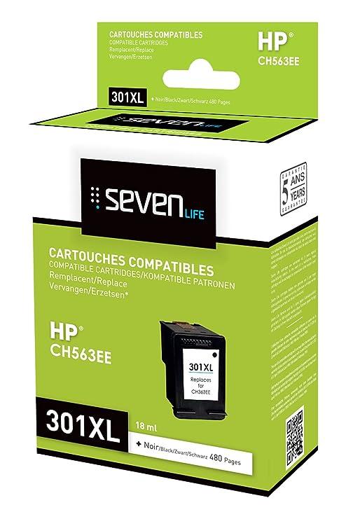 Seven Life SLH301BKXLX1 Cartucho de Tinta Negro - Cartucho ...