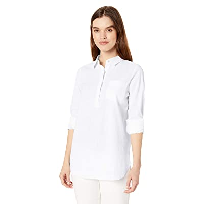 Brand - Daily Ritual Women's Broken-in Cotton Popover Tunic Shirt: Clothing