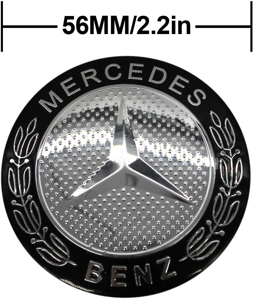 fit Benz Black 4 x 56.5mm Car Lettering BBS Wheel Center Cap Sticker Wheel Emblem Badge Logo Stickers