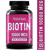 Simply Nutra High Potency Biotin 10000mcg - 120 tablet