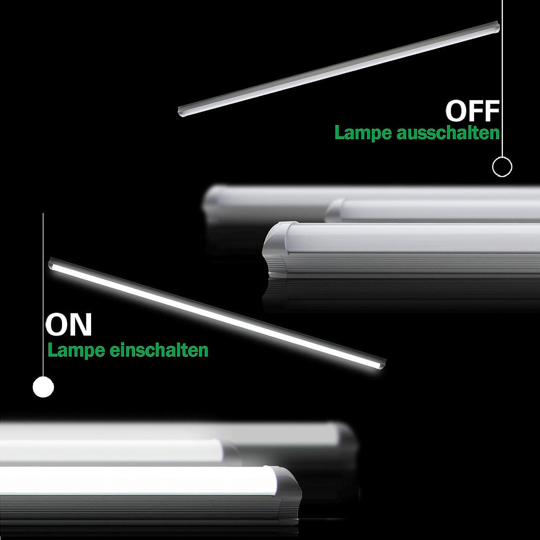 2700 Lumen Kaltwei/ß Tageslichtwei/ß 6000K 24 Watt OUBO LED Leuchtstoffr/öhre komplett 150CM LED Tube T8 R/öhre Leuchtstofflampe mit Fassung 3er Pack zum Sparpreis