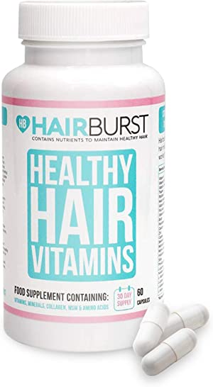Biotin Hair Growth Vitamins, Biotin Pills for Hair Growth, Hair Growth Vitamins for Women and Men, Hair Vitamins for Hair Care, 60 Capsules (1 Month Supply) - Hairburst