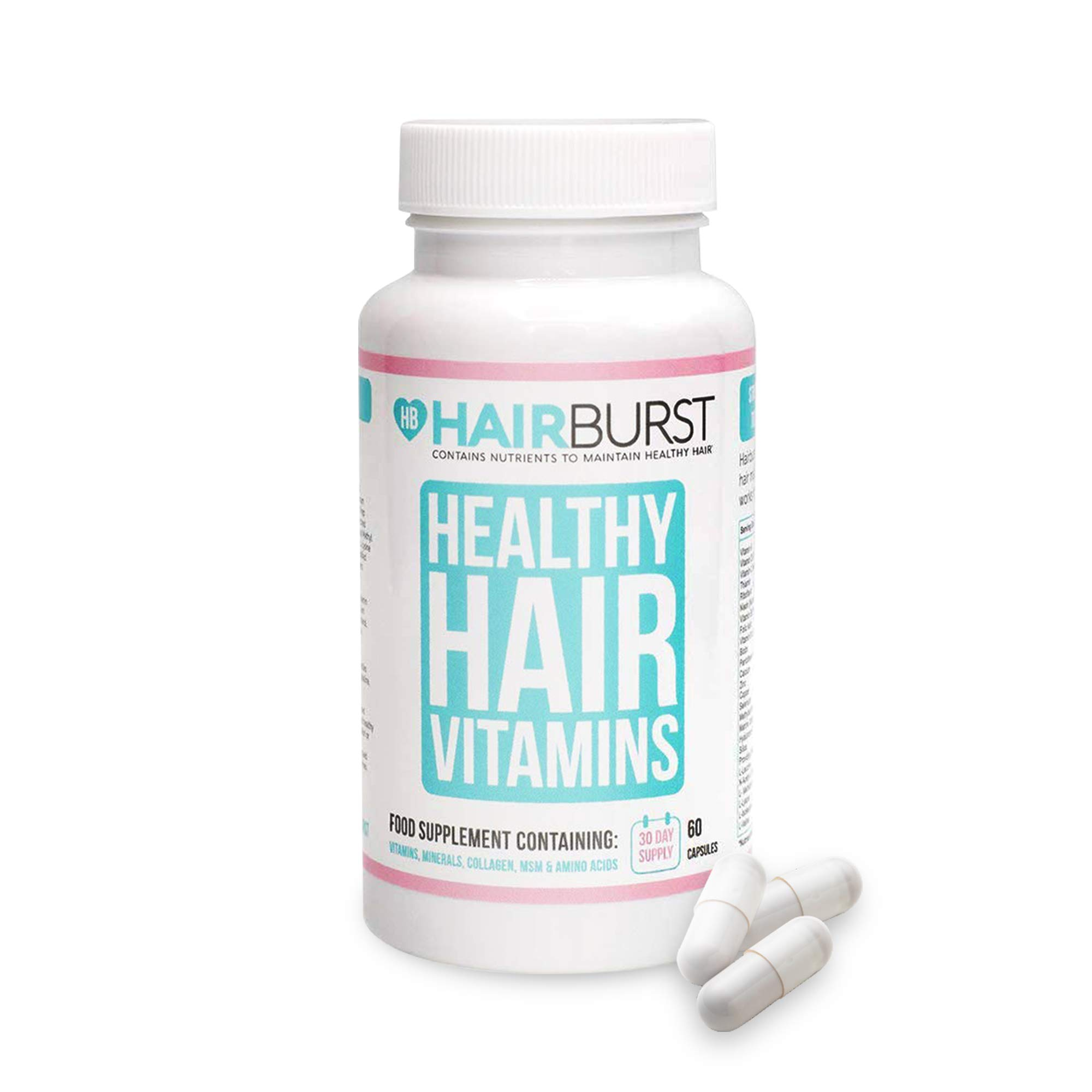 Hair Growth Vitamins - Biotin Anti Hair Loss Supplement for Thinning Hair - Hair Tablets for Women - Hair Regrowth Multivitamins Pills - Grow Longer Stronger Healthy Hair Capsules - 1 Month Hairburst