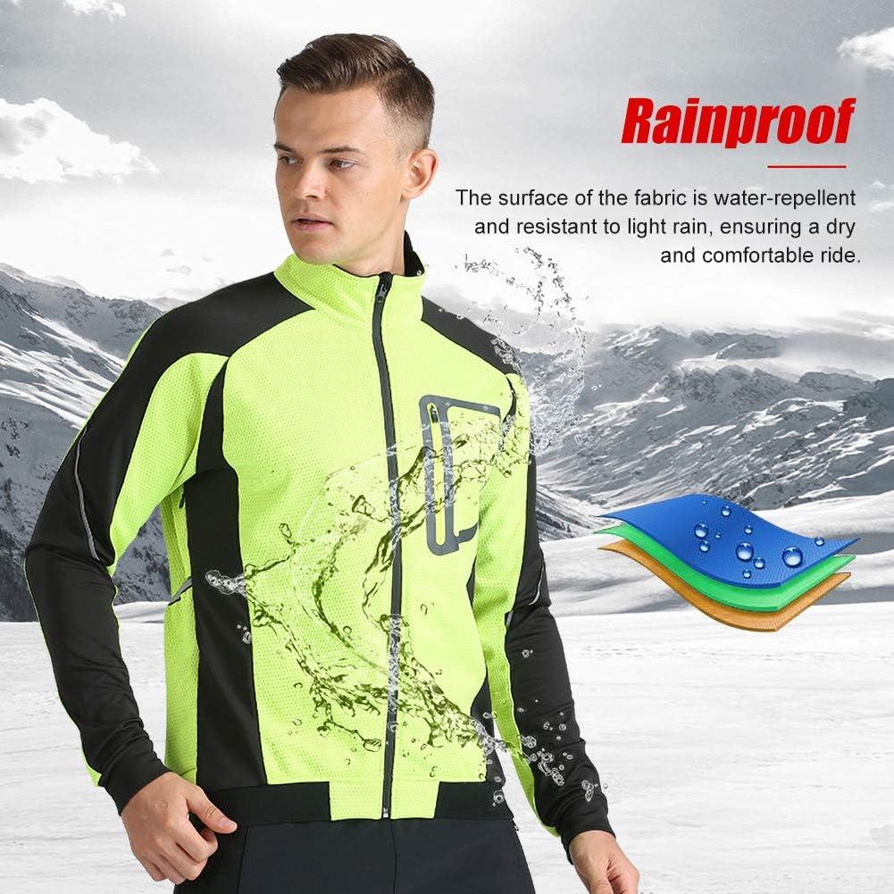 Winter Herren Radjacke Winddicht Atmungsf/ähig Leicht Radfahren Kleidung Radfahren Laufjacke,A,M