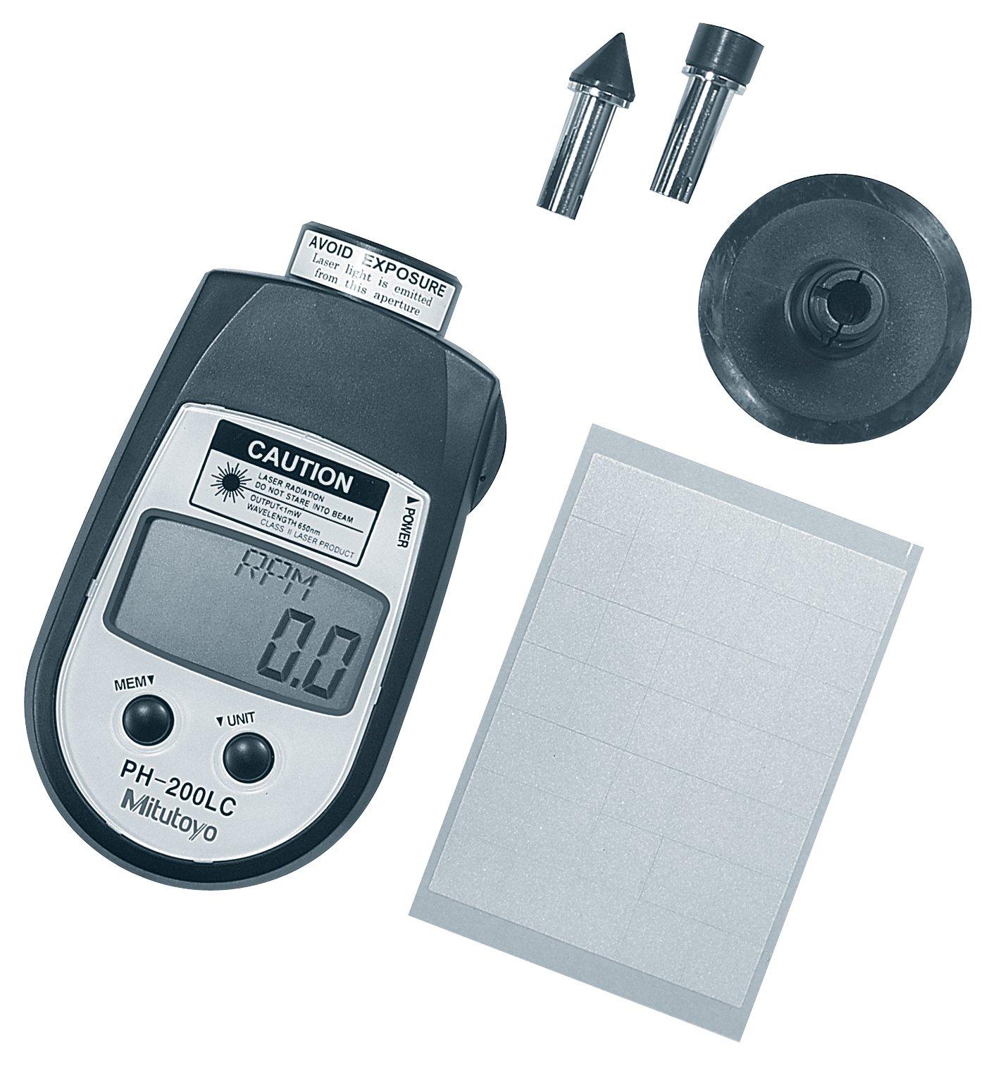 Mitutoyo 982-552, Digital Hand Tachometer, Contact 6 to 25,000 rpm / Non-Contact 6 to 99,999 rpm, Contact/Non-Contact Style