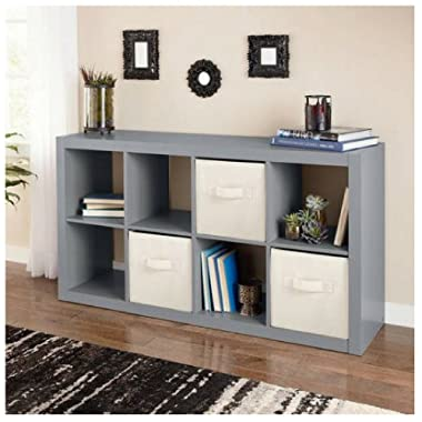 Better Homes and Gardens 8-Cube Organizer, Creates multiple storage solutions (Gray)