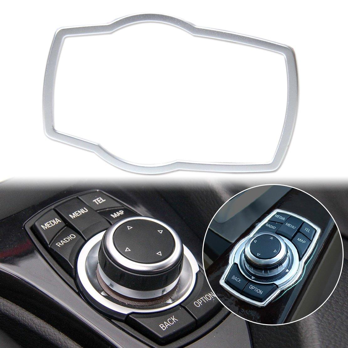 beler Silber Car Innenraum Multimedia Button Abdeckung Dekor Molding Trimm Dekoration hermeshine