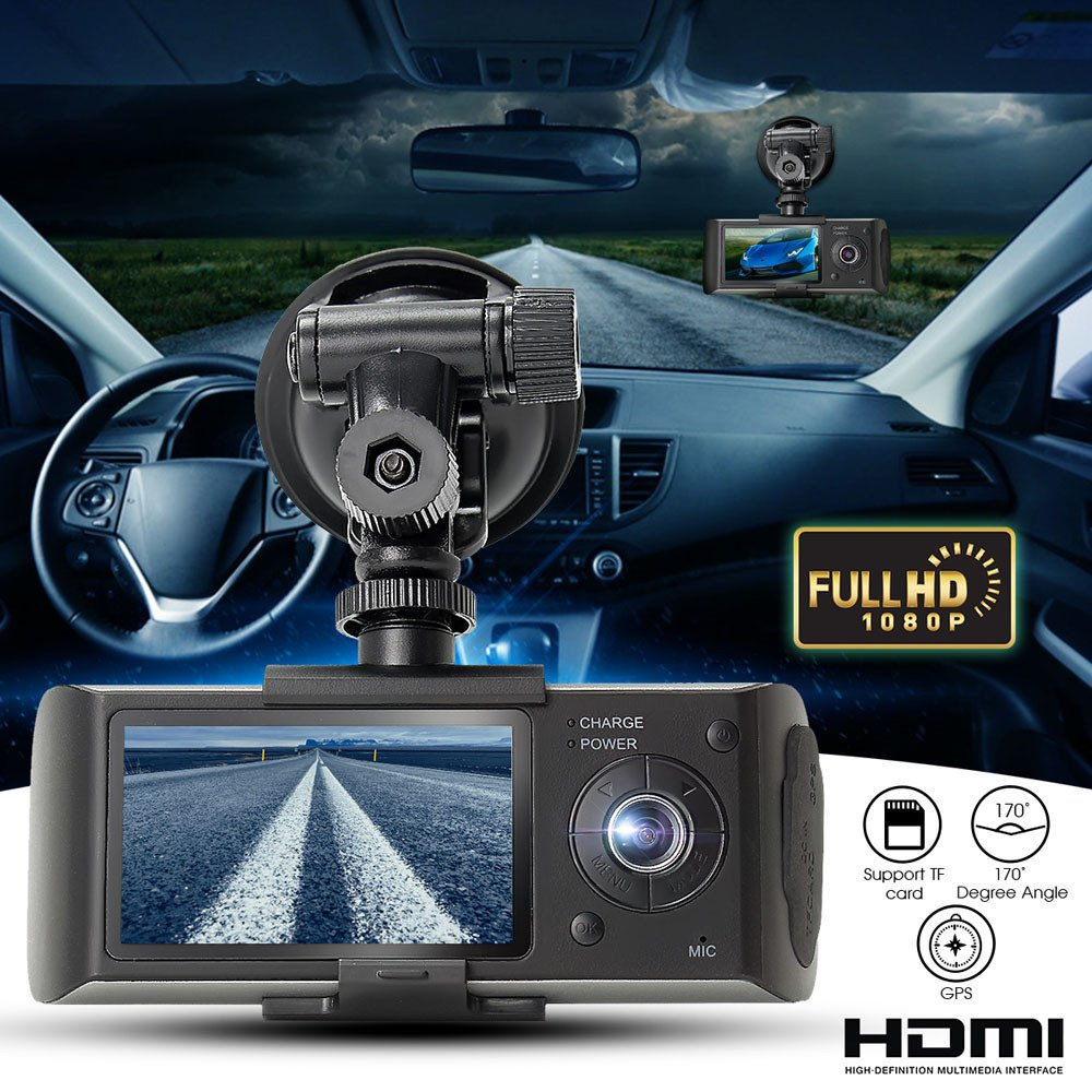 "Amazon.com: South Weekend Dual Len Camera, 2.7"" Vehicle Car DVR Camera Video Recorder Dash Cam G-Sensor GPS,Front Lens with 140 Degrees Wide Angle, ..."