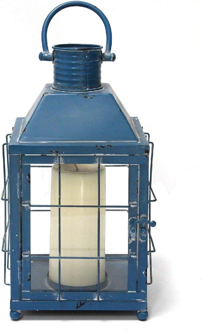 "Stratton Home Décor Stratton Home Decor Blue Lighthouse Lantern, 7.50"" W X 7.50"" D X 15.25"" H"