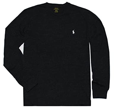 653e588507b7 Polo Ralph Lauren Men s Long Sleeve Pony Logo T-Shirt - Small - Black  Charcoal