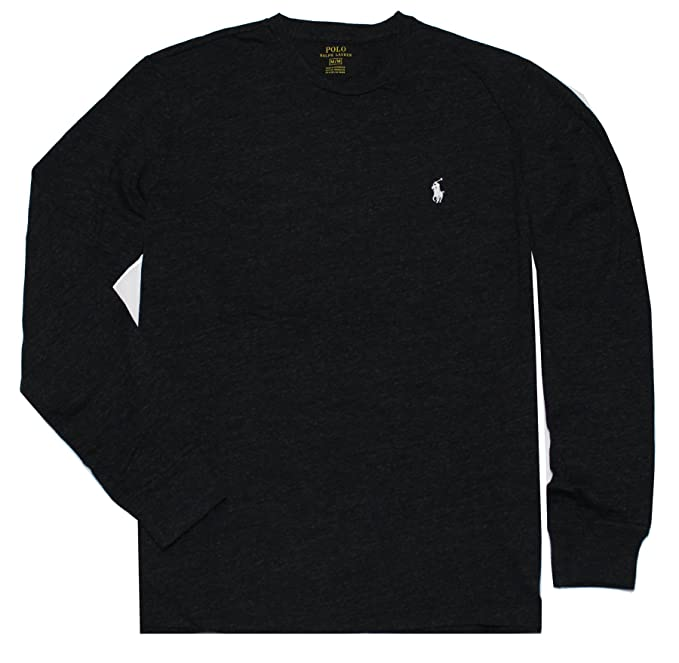 Polo Ralph Lauren Mens Long Sleeve Crew Neck Pony Tee-Green | Amazon.com