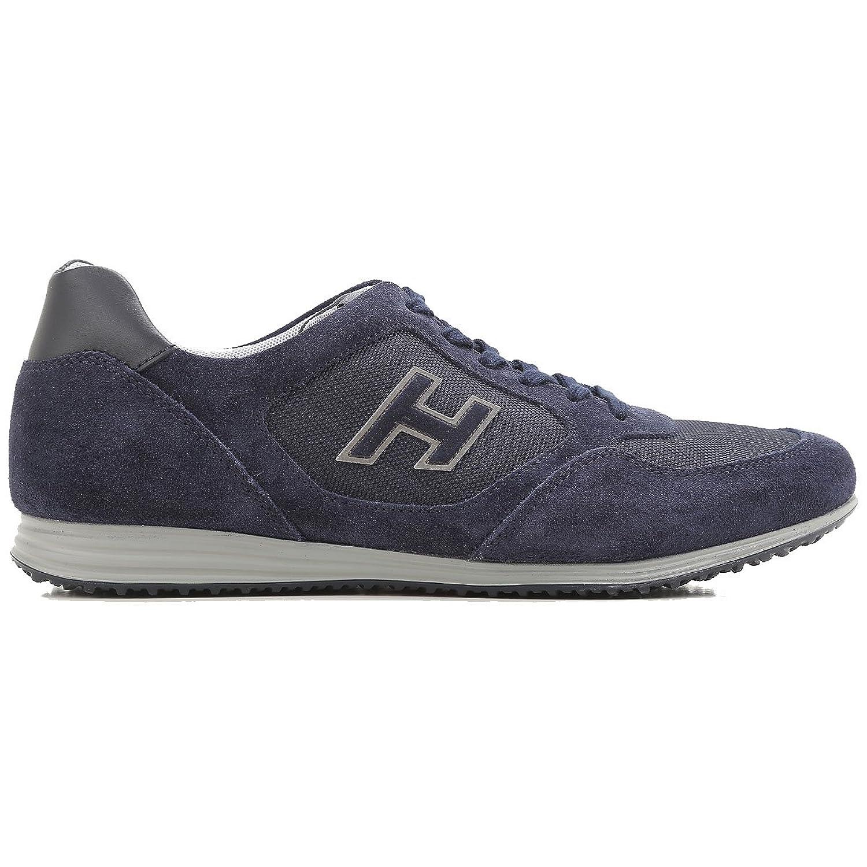 Hogan メンズ HXM2050U670FK83694 ブルー セーム 運動靴 B07DX88GYG