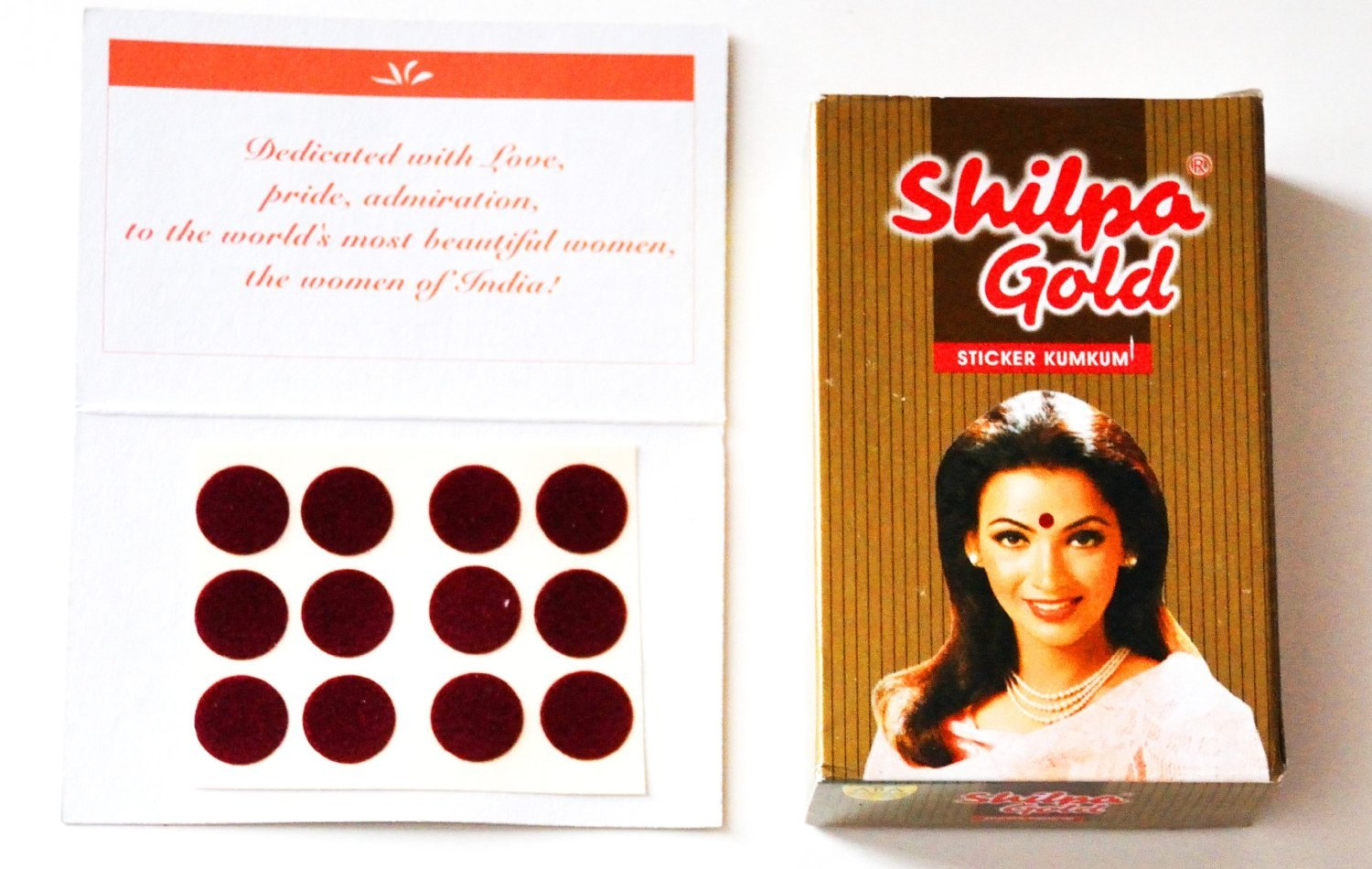 Shilpa Sticker Kumkum Maroon Adhesive Bindi (Size-5) Pack of 15