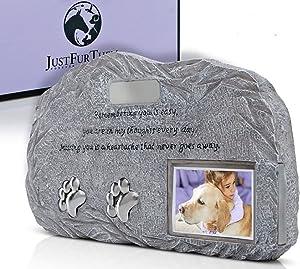 Just Fur Them Pet Urn with Photo - Pet Memorial Gifts I Dog Urn | Cat Urn | Pet Urns for Ashes I Pet Urns for Dogs Ashes I Pet Urns for Cats I Urns for Pet Ashes I Dog Memorial Gifts I Dog Gravestone