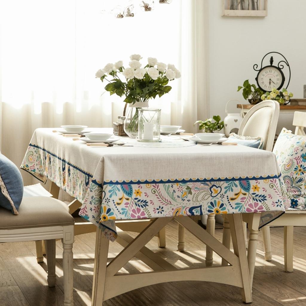 Mantel moderno de la cocina Mantel rectangular paño de la tabla de cena Paño de la tabla de café Paño Lino Restaurante creativo Tamaño: los 130  210cm , 130200cm