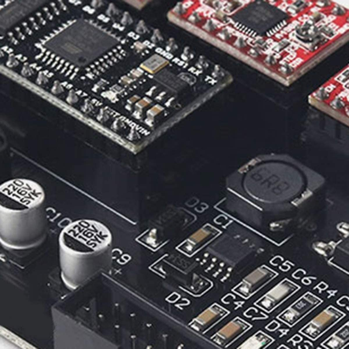 DJY-JY Eleksmana V5.2 GRBL CNC Motherboard USB CNC 3-Achsen-Steuerkarte CNC DIY-Teile Ger/ät USB Schrittmotortreiber Motortreiber