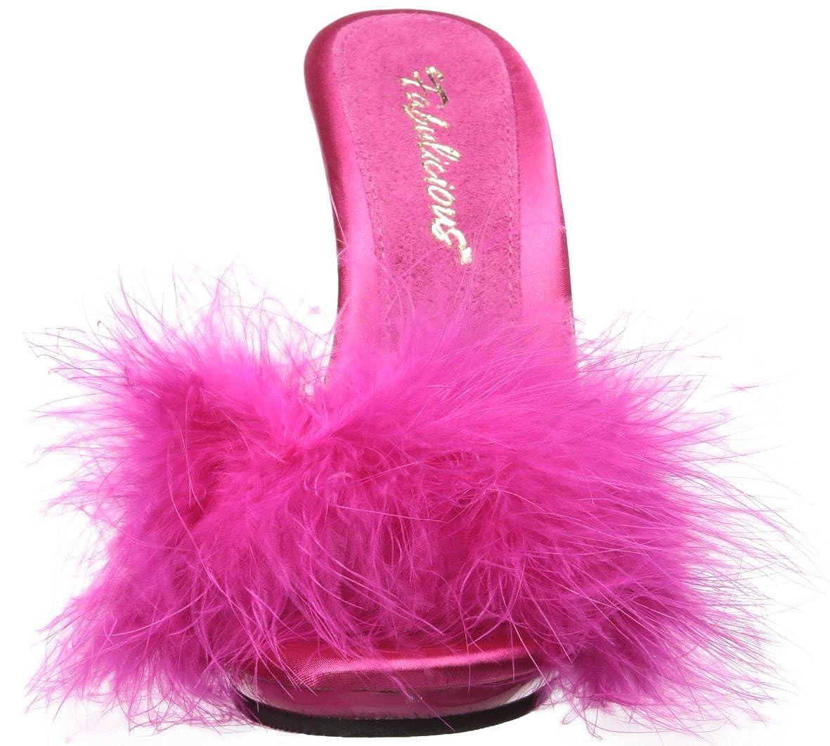 Fabulicious Damen Poise-501f Satin-marabou H. Pink Satin-marabou Poise-501f Fur/H. Pink 2f7f36