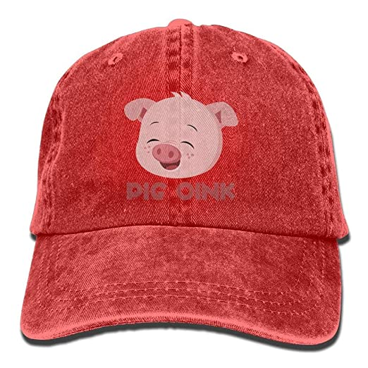 1d80824a649 Image Unavailable. Image not available for. Color  Pig Oink Snapback Cotton  Hat