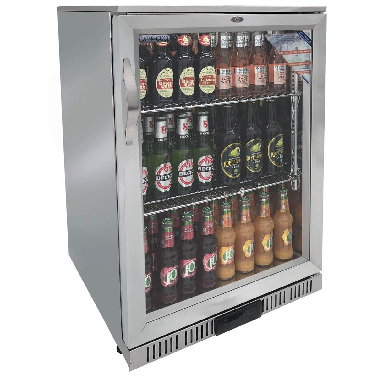 Cater-Cool CK3500LED Single Door Stainless Steel Bottle Cooler With LED Lighting