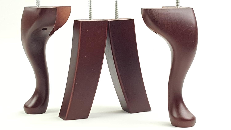 Juego de 4 patas de repuesto para muebles, de madera maciza ...