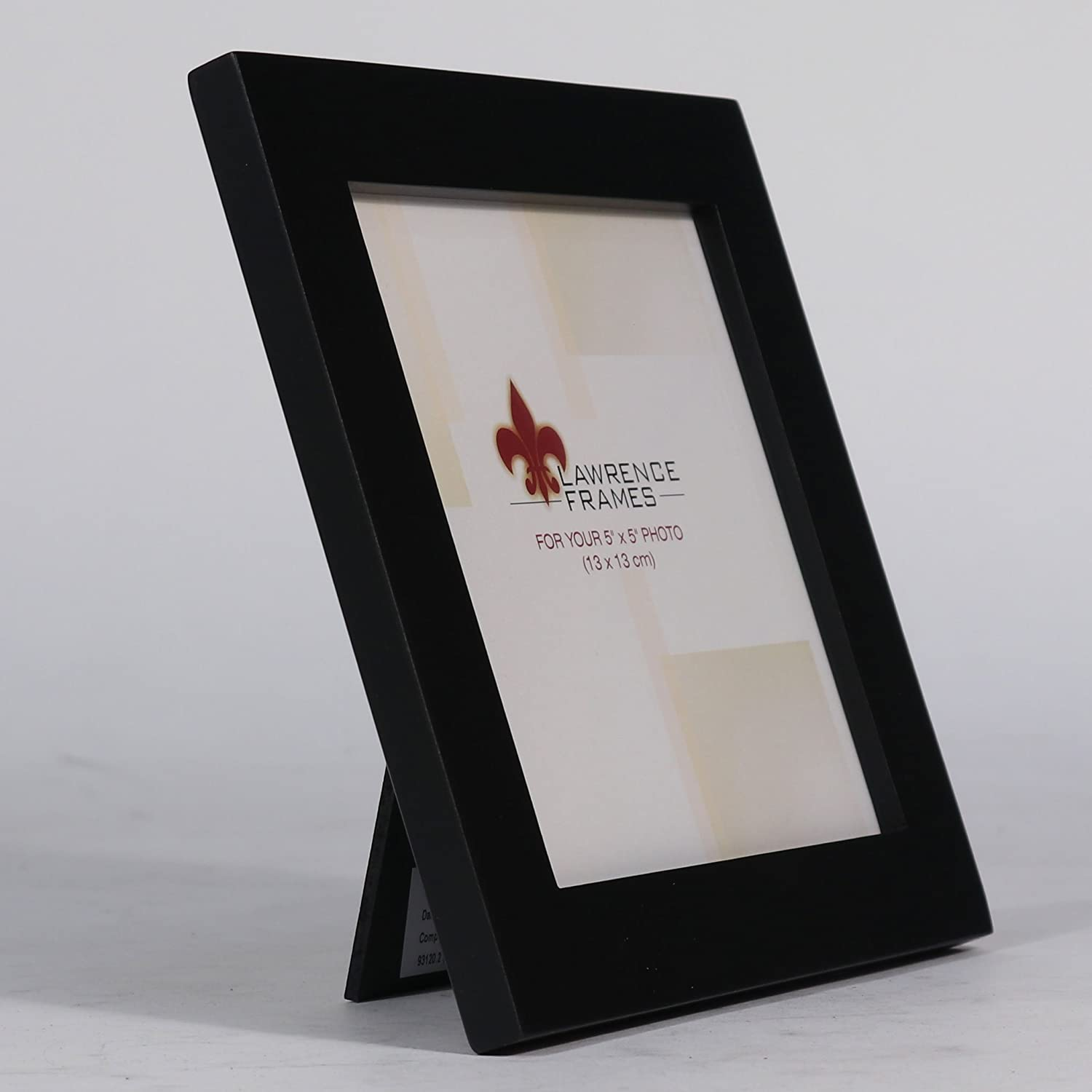 Amazon.com - Lawrence Frames Black Wood 5 by 5 Picture Frame ...