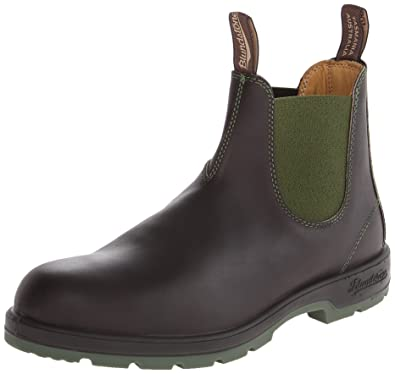 Blundstone Men's 1402 Chelsea Boot, Stout Brown/Olive, 10 UK/11 M