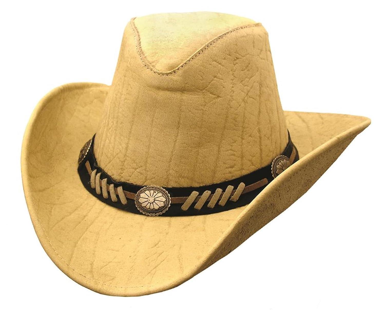 Kakadu Damen Herren Cowboy Western Sommerhut aus Mikrofaser mit formbarer Krempe und Hutband
