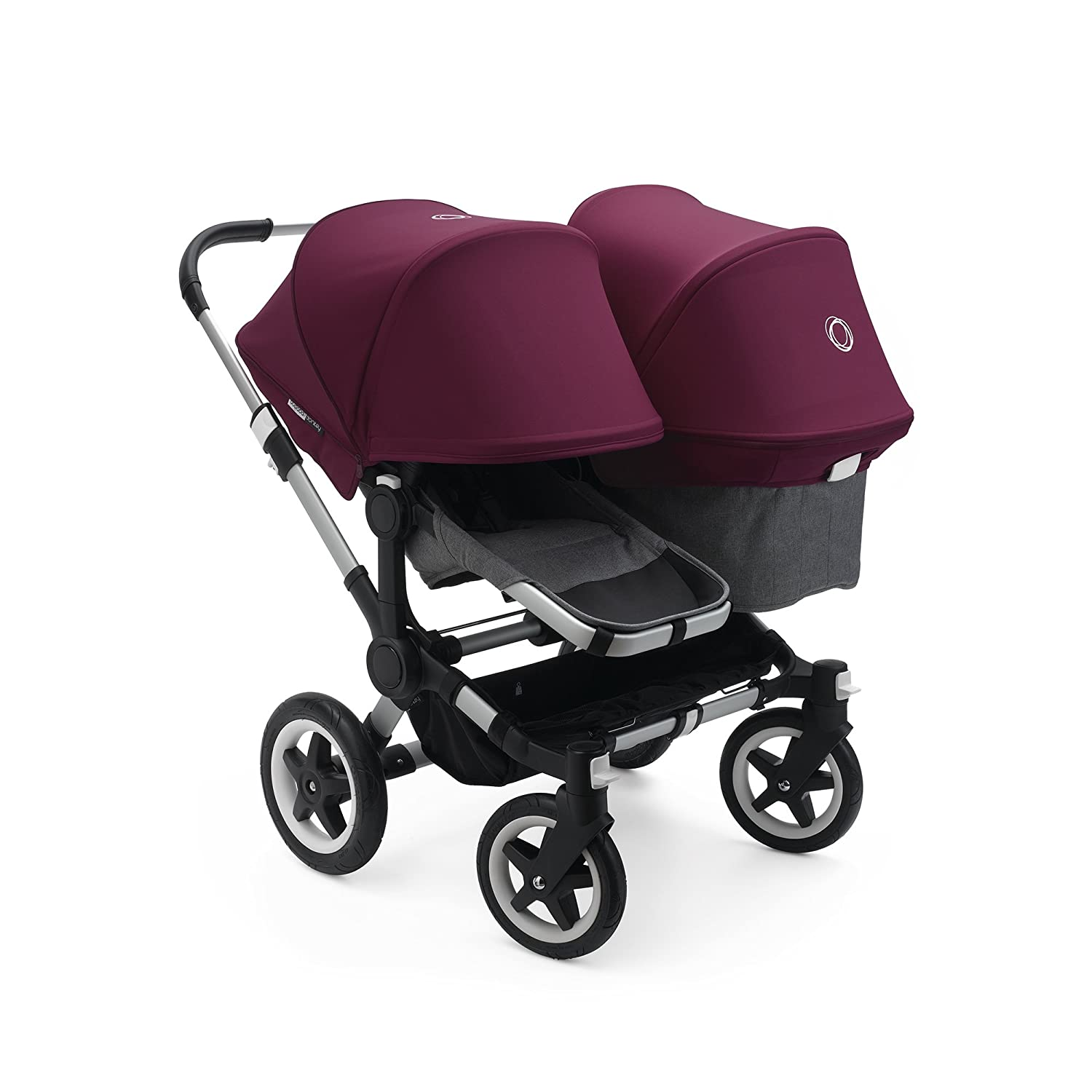 Expand from a Single to a Double Stroller Includes Duo Extension Adapter Sun Canopy /& Rain Cover! Bugaboo Donkey2 Classic Collection Duo Extension Set a Toddler Seat Blue M/élange//Blue