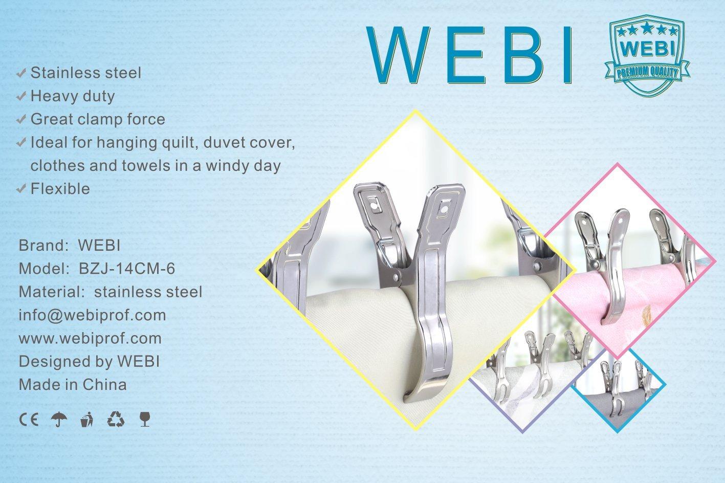 Amazon.com: WEBI, ganchos con forma de pinzas para ropa ...