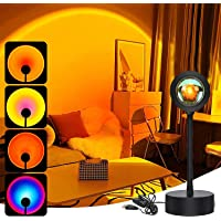 Sunset Projection Lamp,360 Degree Rotation Sunset Projector Lamps,4 Colors Changing LED Warm Light Projector, Ambient…