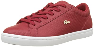 e8a190639e Lacoste Straightset Lace 317 2, Baskets Basses Femme, Rouge (DK Red ...