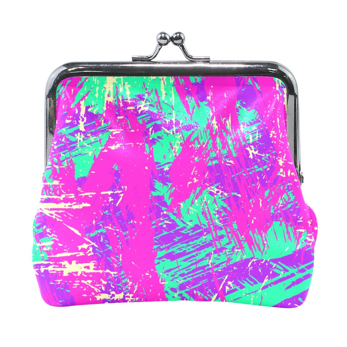 Coin Purse Graffiti Colorful Wallet Buckle Clutch Handbag For Women Girls Gift