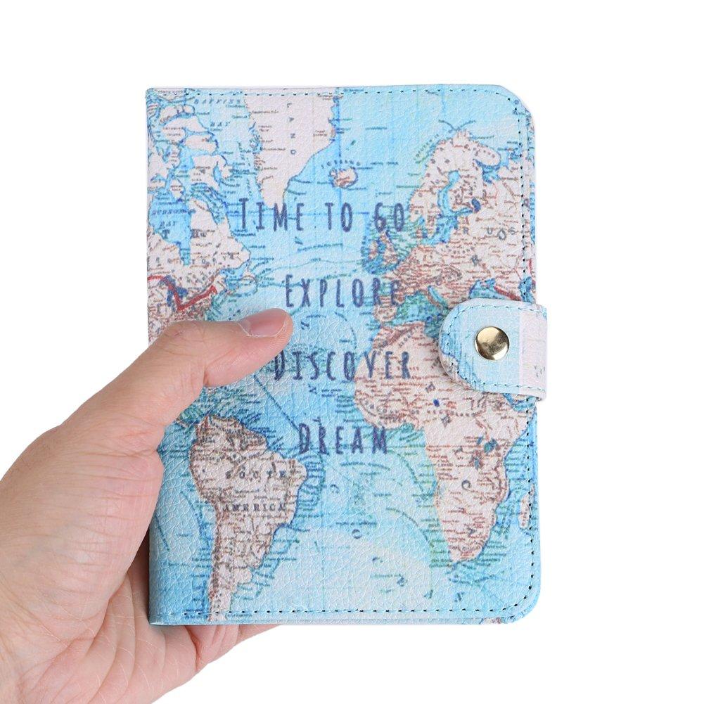 GLOGLOW Cas de Passeport Impression Mignonne PU Porte-Passeport Housse Couverture de Protection Voyage Protecteur Portefeuille Pochette /étui de Protection #Eye
