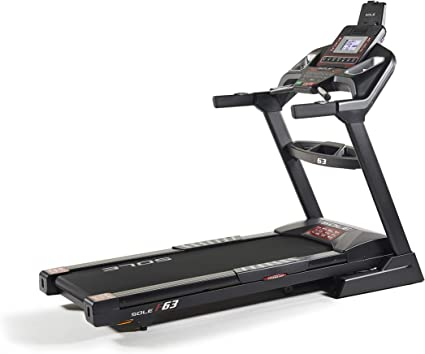 SOLE, F63 Treadmill, Home Workout Foldable Treadmill with Integrated Bluetooth Smart Technology, Device Holder, LCD Screen, USB Port, Lower-Impact Design