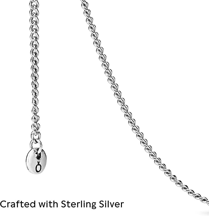 Pandora Jewelry Curb Chain Sterling Silver Necklace, 23.6
