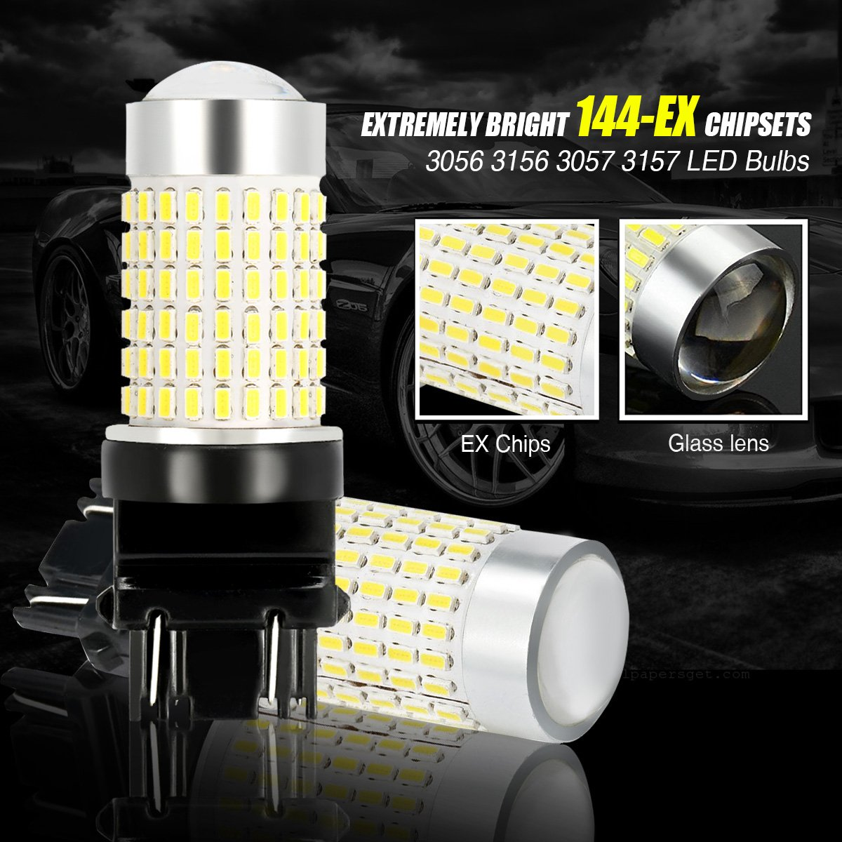 NTHREEAUTO Amber Front Turn Signals LED Lights 3-1//4 Compatible with Harley Electra Glide Road King Heritage Softail 5559074044