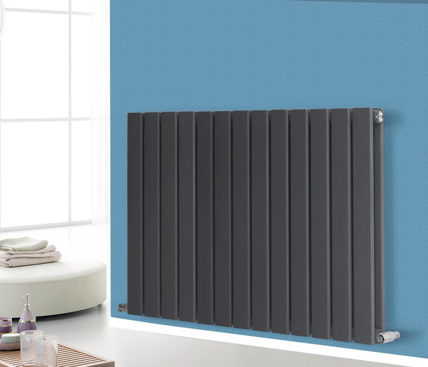 NRG 600x884 Horizontal Flat Panel Designer Radiator Modern Bathroom ...