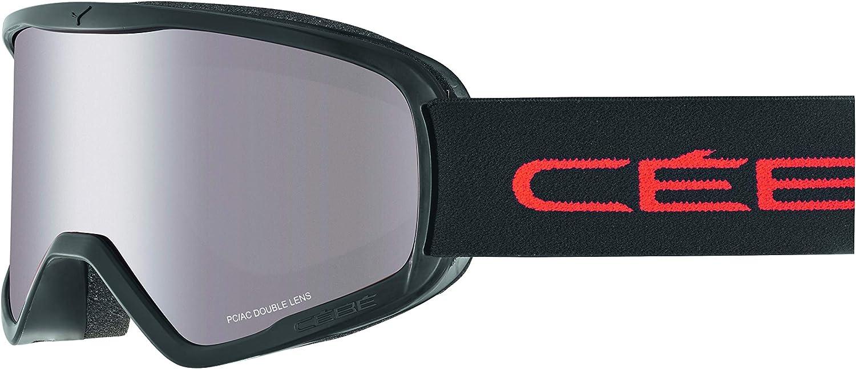 CBG105 L C/éb/é Skibrille Razor Black//Red Orange