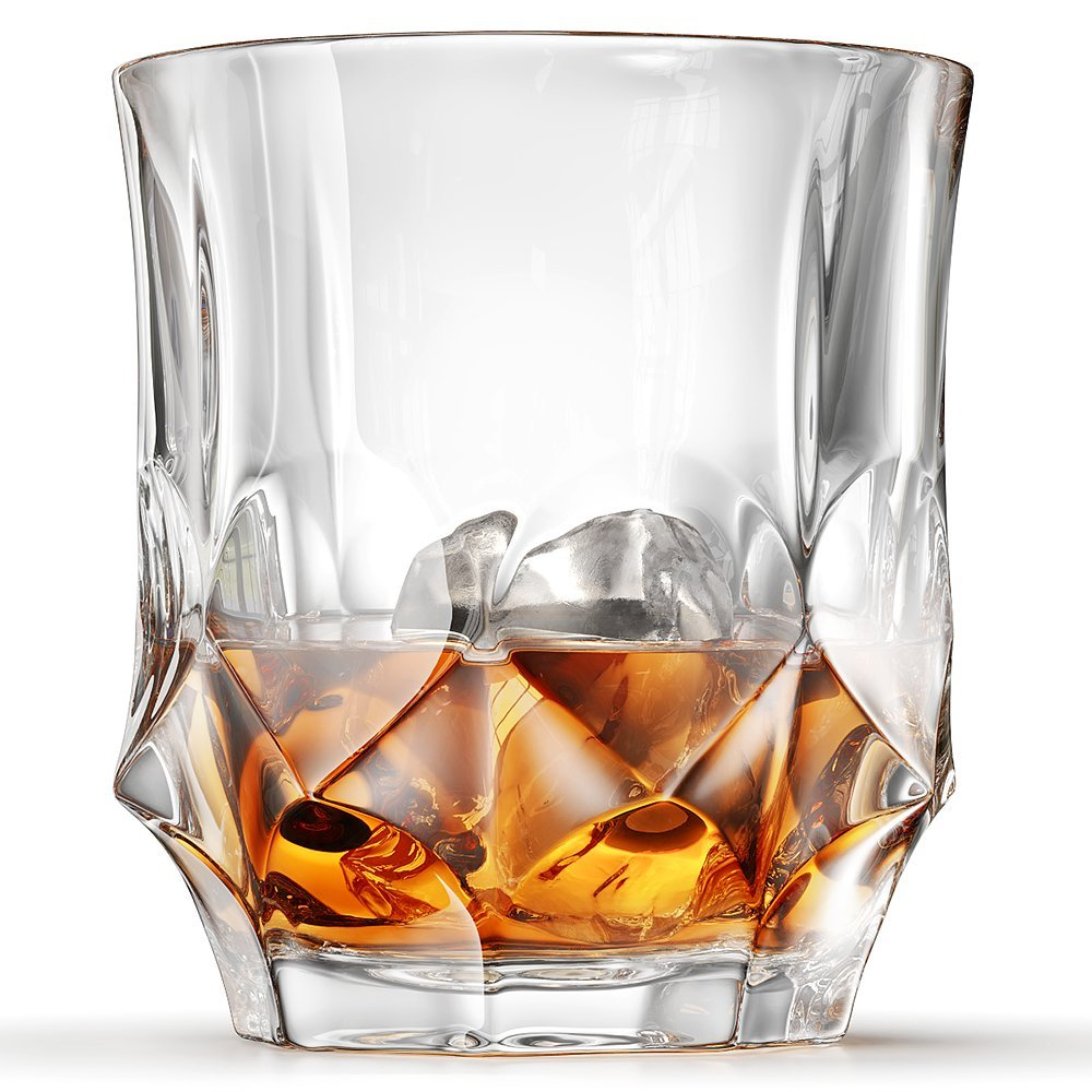 Imperial Whiskey Glasses, Scotch Glasses By Ashcroft - Set Of 2. Unique, Elegant, Dishwasher Safe, Glass Liquor or Bourbon Tumblers. Ultra-Clarity Glassware.