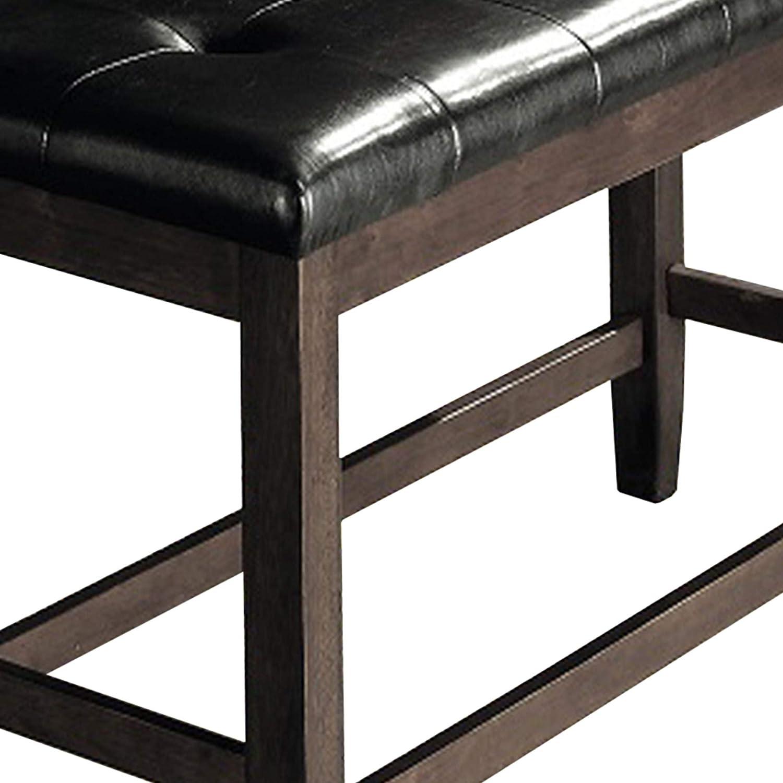 Amazon.com: Benjara Benzara BM170554 Wooden Bench with ...