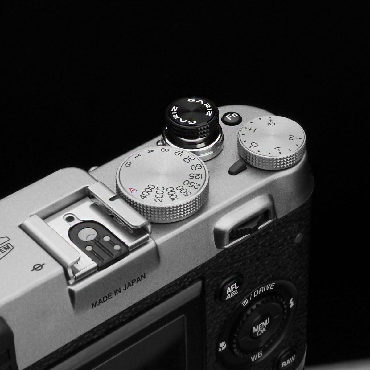 Black Gariz Metal XA-SBA1 Camera Screw Type Soft Button for X-PRO1 X100 X10 LEICA CONTAX