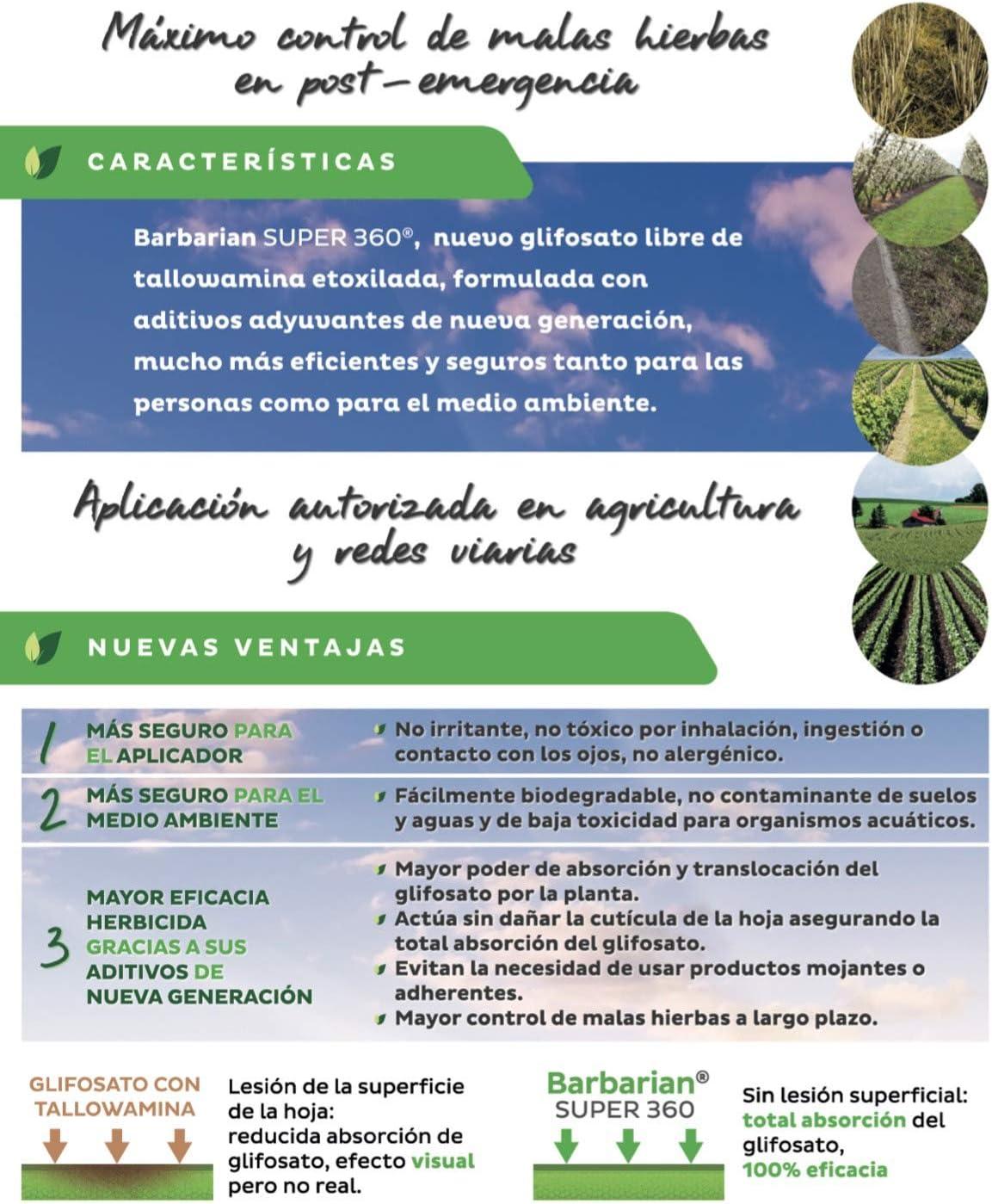 SUPER 360 Herbicida 5 litros Barbariani Maximo Control de Las ...